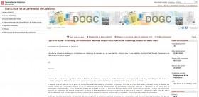 PUBLICACIÓ DE  LA MODIFICACIÓ DEL LLIBRE CINQUÈ DEL CODI CIVIL DE CATALUNYA